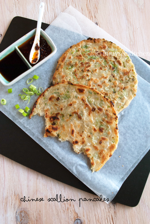 Chinese scallion pancakes 'chung yau ban' | in my Red Kitchen