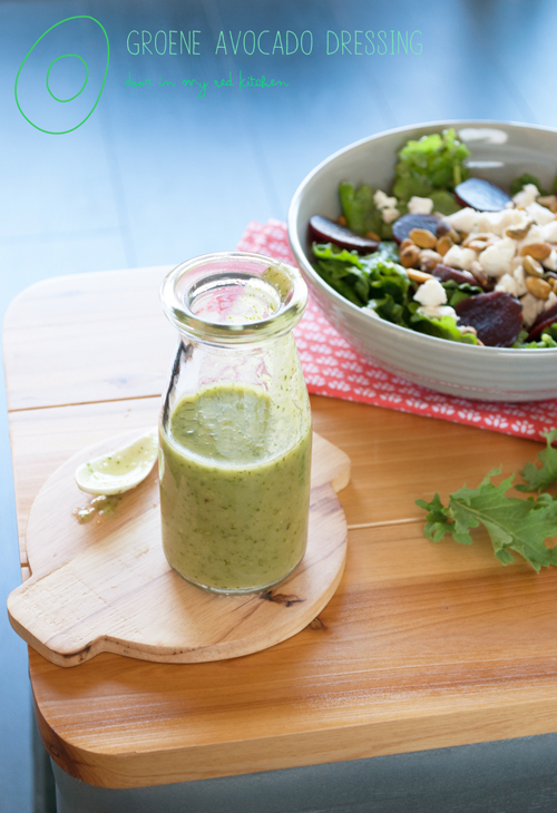 Green avocado salad dressing | in my Red Kitchen #dairyfree #glutenfree #paleo #avocado