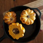 Roasted squash with gorgonzola, mushrooms and apple | in my Red Kitchen #fall #fallfood #pumpkin #squash