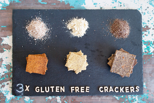 Gluten-free crackers, 3 ways | in my Red Kitchen #glutenfree #crackers #snack