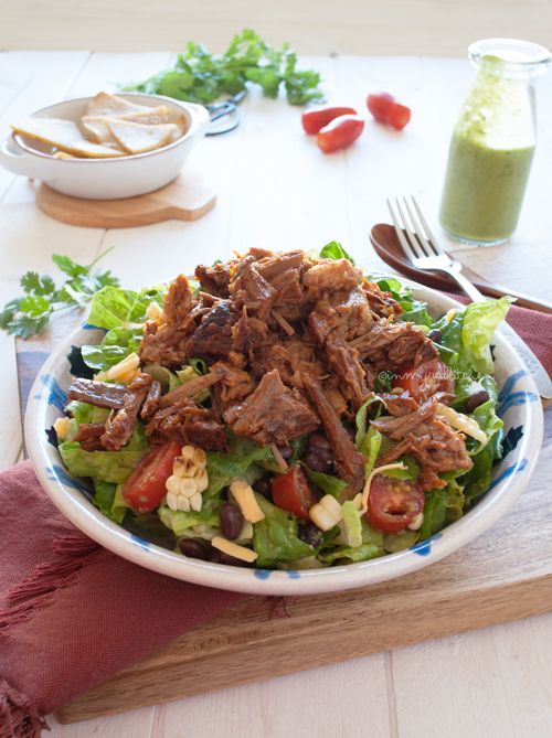 Mexican brisket salad, can I eat this every day? | in my Red Kitchen #brisket #salad #Mexican