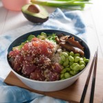 Tuna poke bowl | in my Red Kitchen #tuna #raw #fish #sushi #pokebowl #tunapokebowl