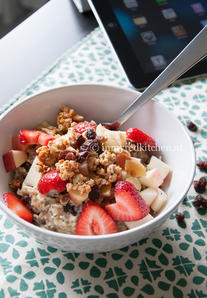 Wonderbaar Havermout ontbijtje - in my Red Kitchen QG-38